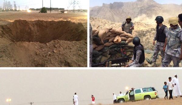 """""""مدني نجران"""" يباشر سقوط مقذوفين في منطقة زراعية"""