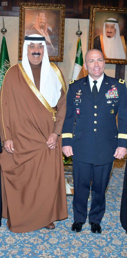 الأمير متعب بن عبدالله يستقبل مدير مشروع التطوير بوزارة الحرس الوطني
