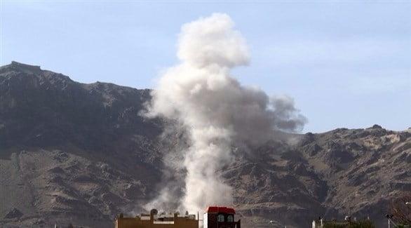 التحالف يغير على مواقع عسكرية للانقلابيين في الحديدة