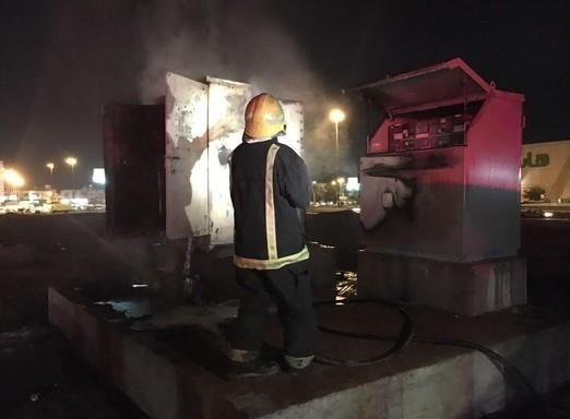 حريق يلتهم محطة كهرباء بـ المدينة المنورة
