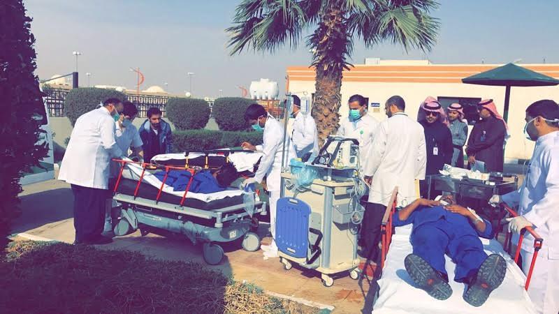 صحة حفر الباطن حريق وهمي و إخلاء للمرضى لتدريب العاملين في مستشفى النقاهة
