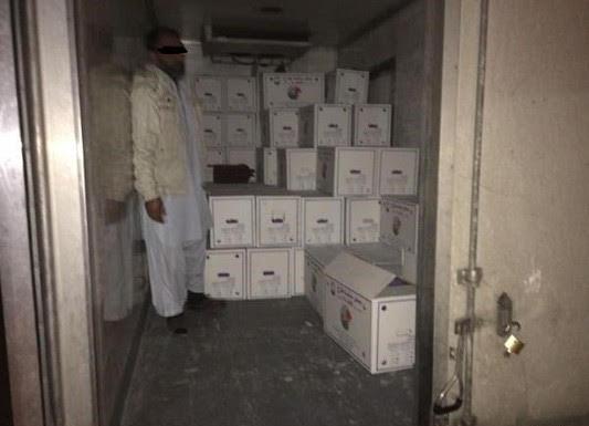 أمانة حائل تصادر كميات من البيض الفاسد مخزنة في سكن عمالة