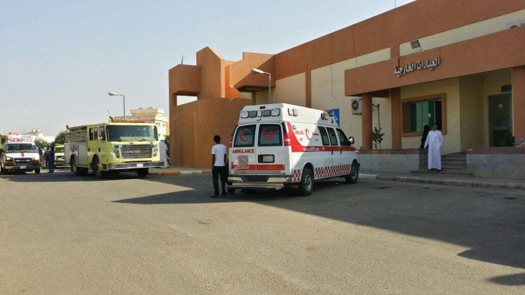 مدني ضمد يباشر السيطرة على انبعاث دخان بقسم الرجال بمستشفى ضمد العام