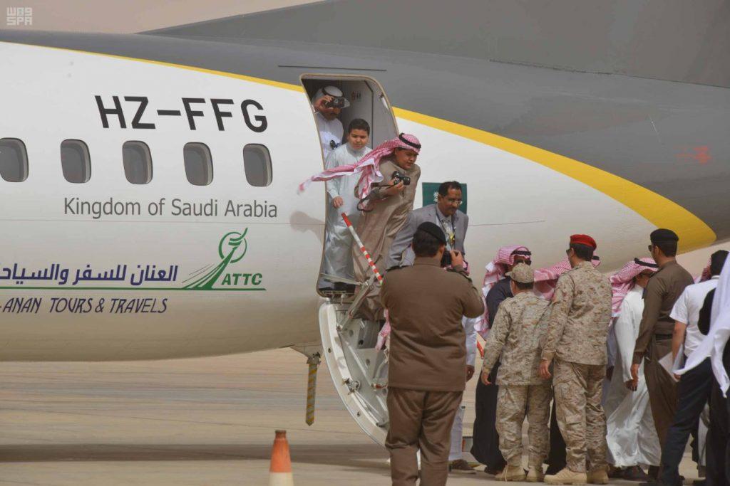 """مطار عرعر يستقبل أولى رحلات شركة """" نسما للطيران """""""