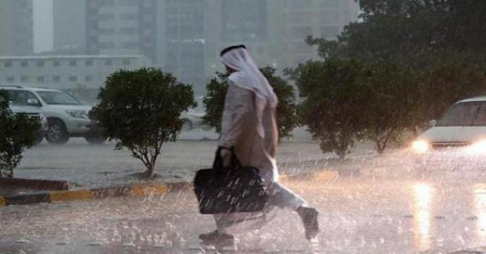 (الأرصاد): أمطار غزيرة مصحوبة بزخات من البرد على مكة وتبوك