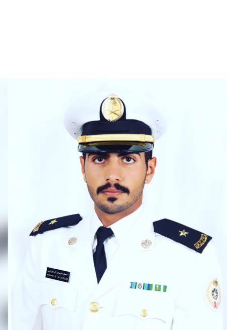أحمد بن سليمان ملازما من كلية الملك فهد البحرية