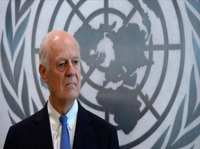 جلسة ختامية بين وفد المعارضة والموفد الأممي دي ميستورا