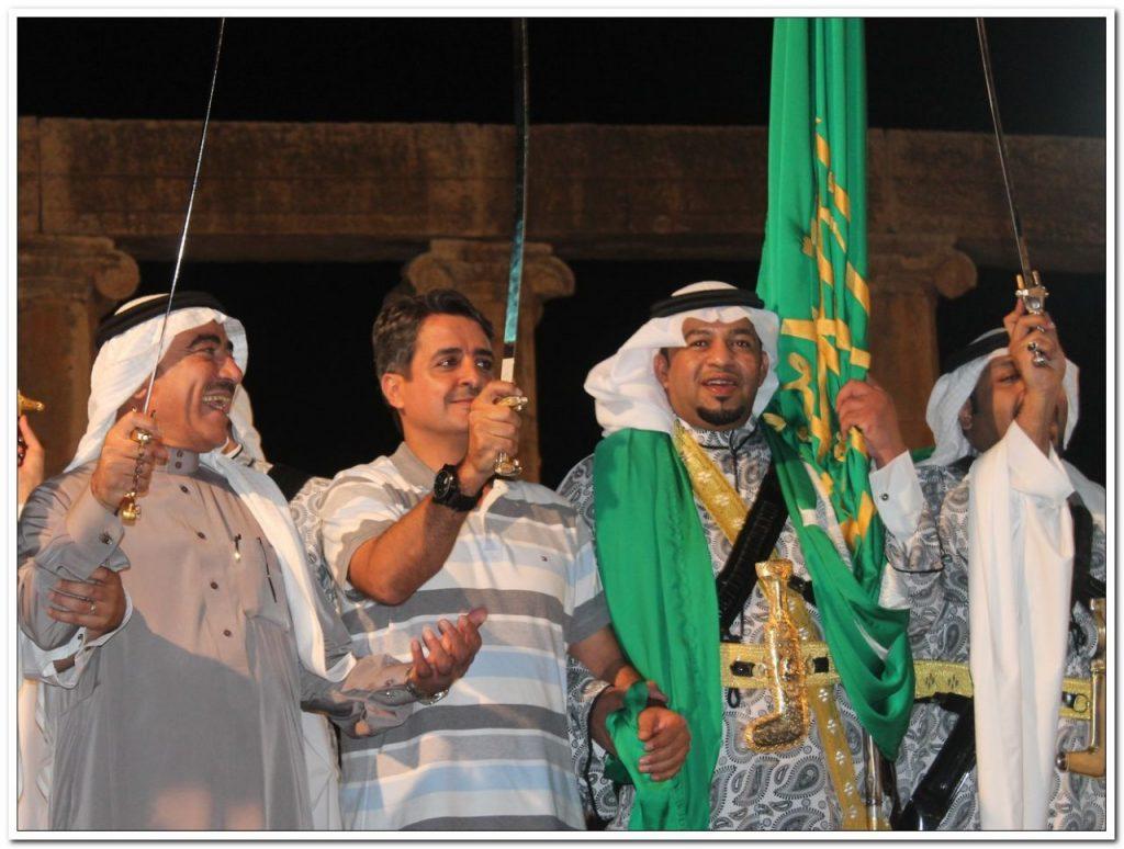 فرقة الدرعية تقدم العرضة السعودية في مهرجان جرش بالأردن