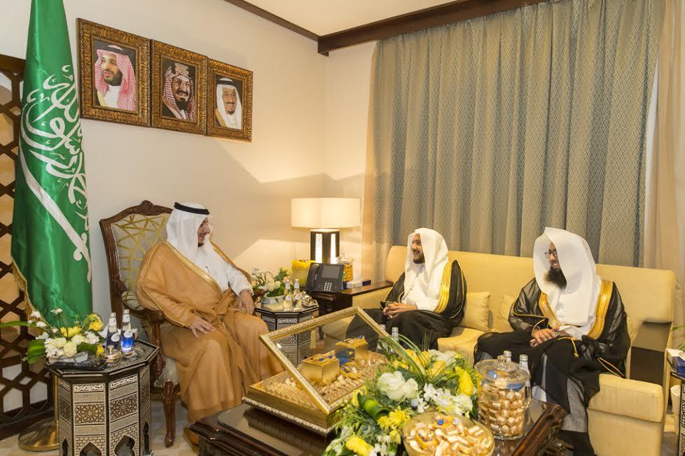 نائب أمير الجوف التقى بالشيخ الرشيد ومرافقيه