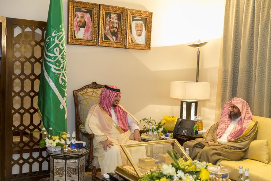 نائب أمير الجوف استقبل مدير عام فرع وزارة الشؤون الإسلامية
