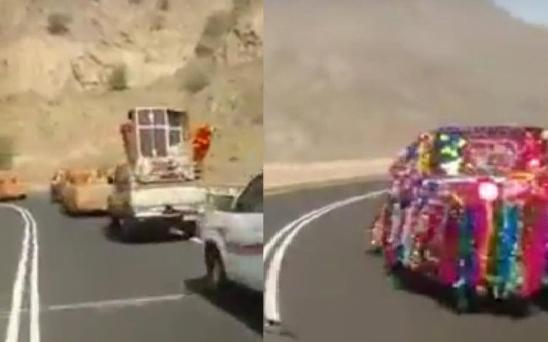 شاهد بالفيديو: أغرب زفة جهاز عروس في الوطن العربي