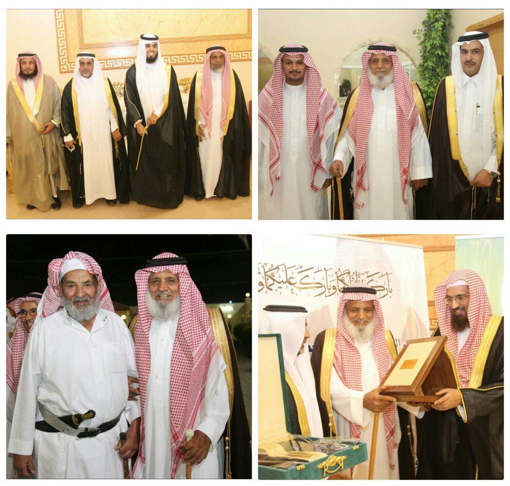 """الشيخ عبدالعالي العصيمي يحتفل بزواج حفيده """" ضاوي """""""