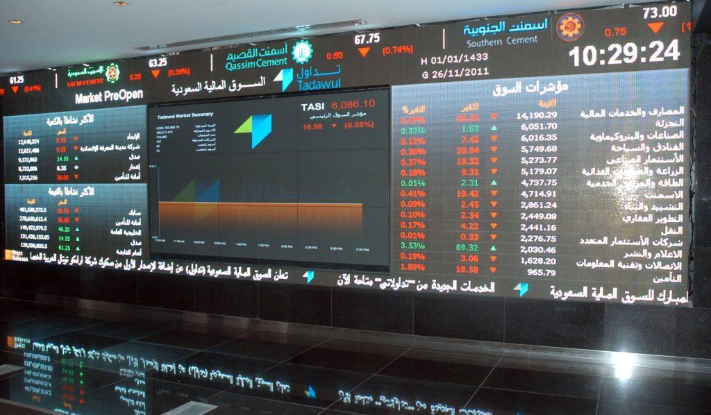 مؤشر سوق الأسهم السعودية يغلق منخفضًا عند مستوى 7125.47 نقطة