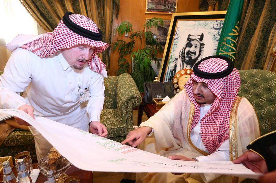 نائب أمير الجوف يطلع على مشاريع الإسكان بمدن المنطقة