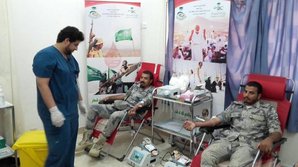 162 متبرعاً بالدم خـلال سلسلة حملات التبرع بالـدم بصحة نجـران