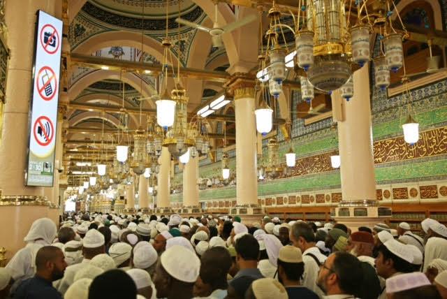 وكالة شؤون المسجد النبوي تستحدث شاشة عرض تعريفية أمام الداخل من باب السلام