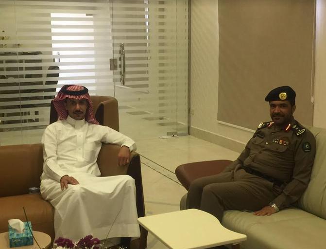مدير إدارة الدفاع المدني بمحافظة الخرج يزور مدير عام الزراعة