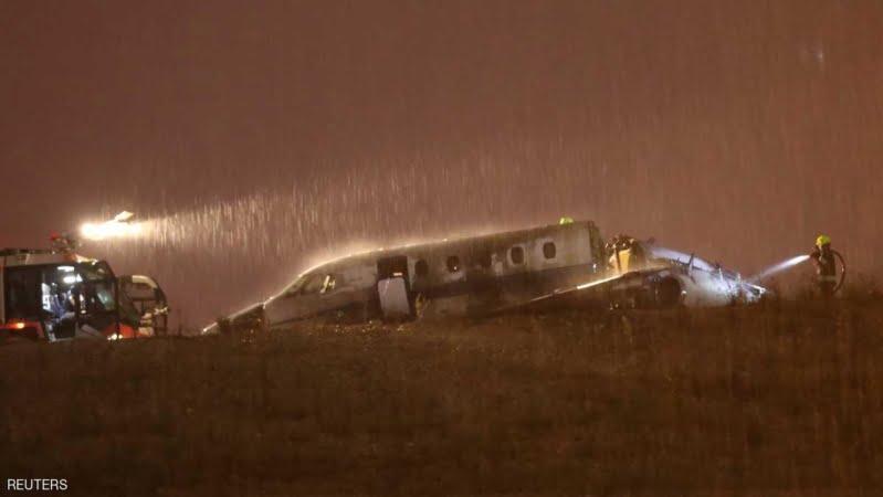 إعادة فتح مطار أتاتورك بعد تحطم طائرة واشتعالها
