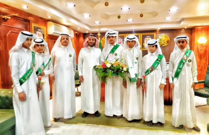 مدارس نجران تتوشح الأخضر احتفالا بذكرى التوحيد