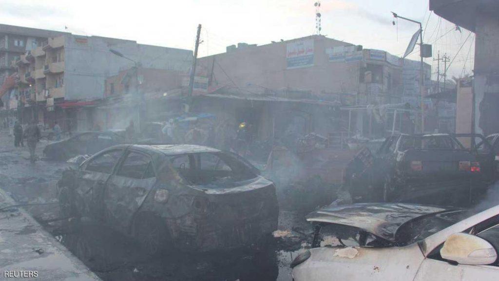 50 قتيلا و80 جريحا في هجوم مزدوج جنوبي العراق
