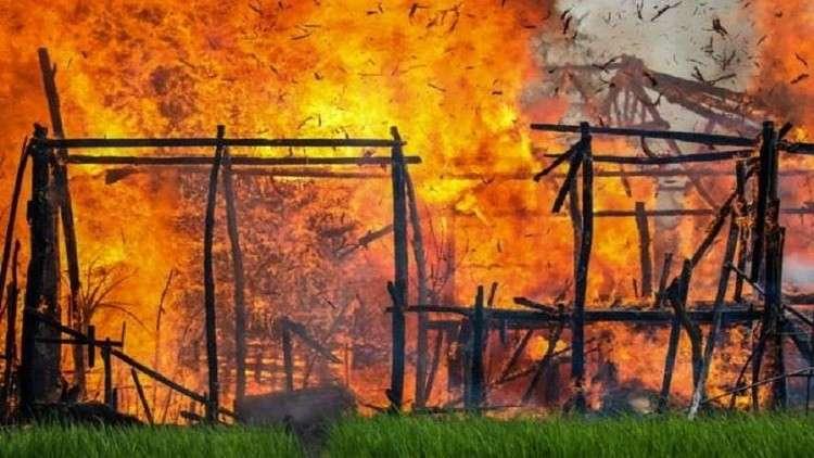 إحراق 62 قرية و900 مبنى للروهينغا في ميانمار