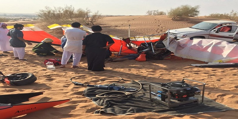 مصرع شاب وإصابة آخر في سقوط طائرة شراعية بعنيزة.. وهيئة الطيران تباشر الحادث