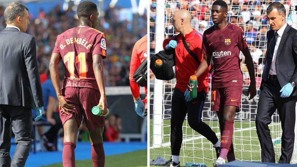"""ديمبلي """"الجديد"""" يغيب عن برشلونة نحو أربعة أشهر بسبب الإصابة"""