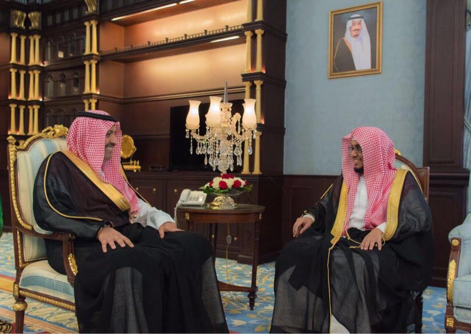 أمير الباحة يستقبل رئيس المحكمة الإدارية بالمنطقة