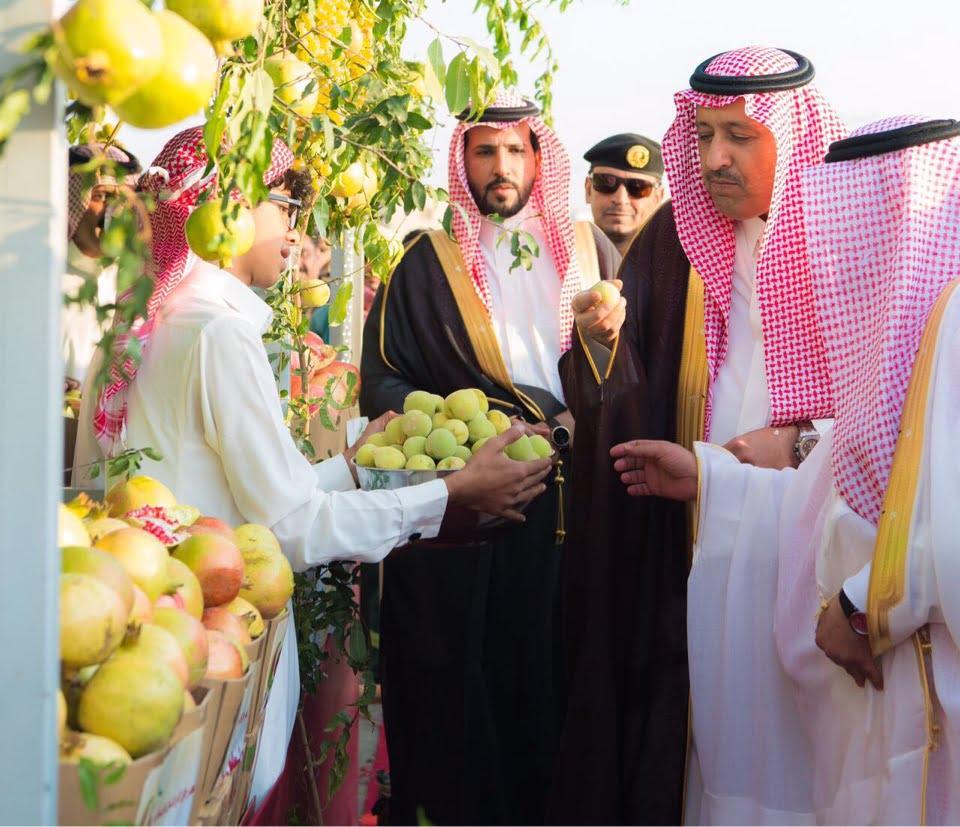 أمير الباحة يفتتح مهرجان الرمان في نسخته السادسة