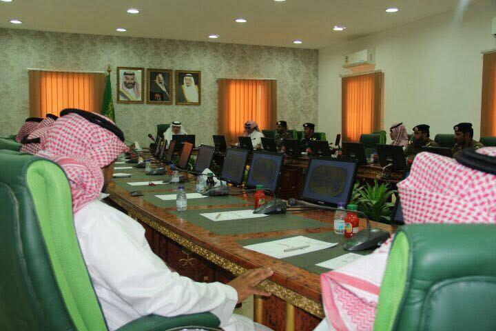 اجتماع لجنة التحضير لفعاليات اليوم الوطني بمحافظ بلجرشي