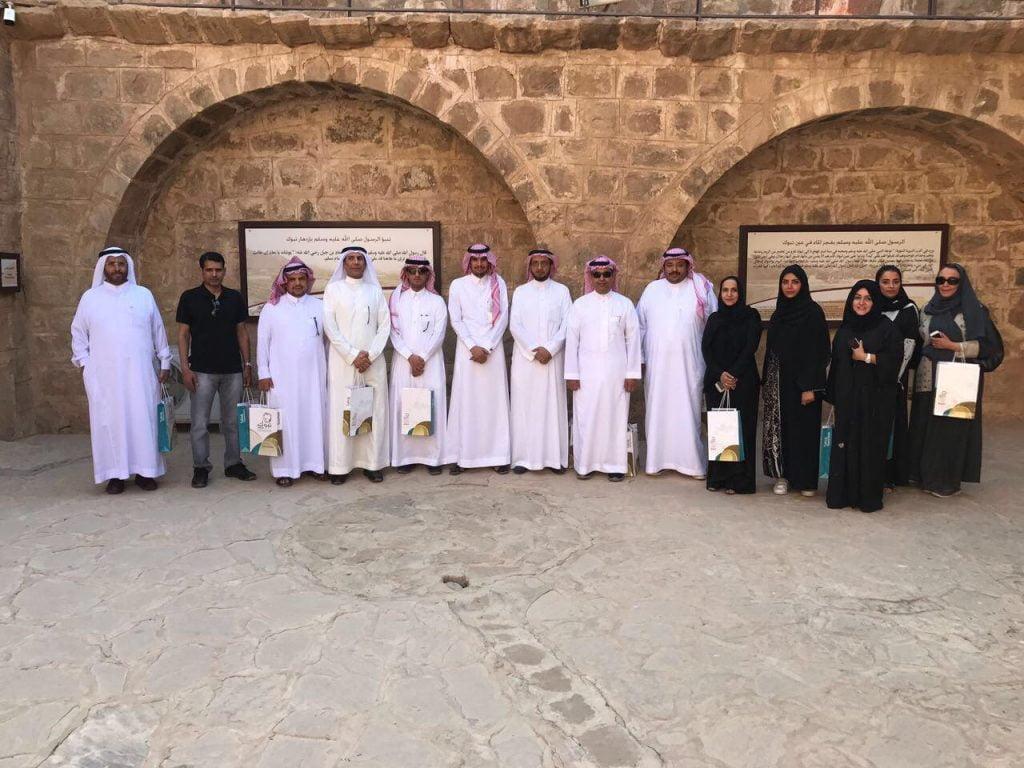 ضيوف برنامج الأمير محمد بن سلمان للتوحد يزورن آثار تبوك