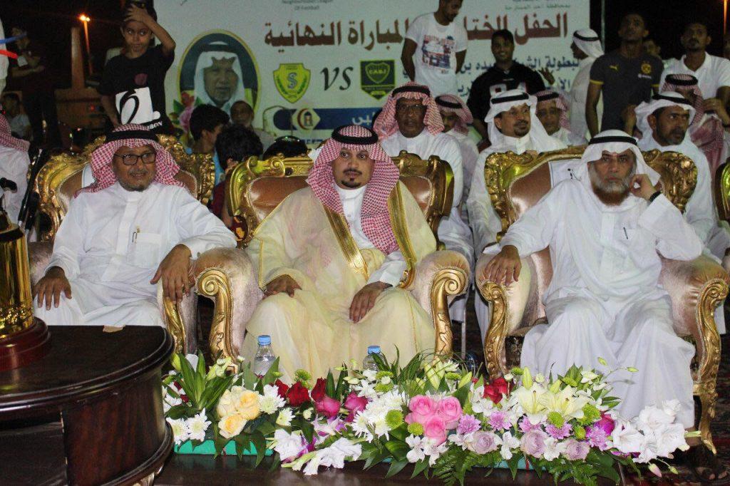 محافظ المسارحة يرعى ختام بطولة الشيخ عبده حسن حكمي لكرة القدم باجتماعي الهجنبه