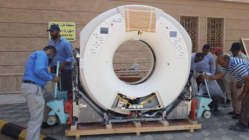 صحة تبوك تركب جهاز أشعة حديث بمستشفى حقل
