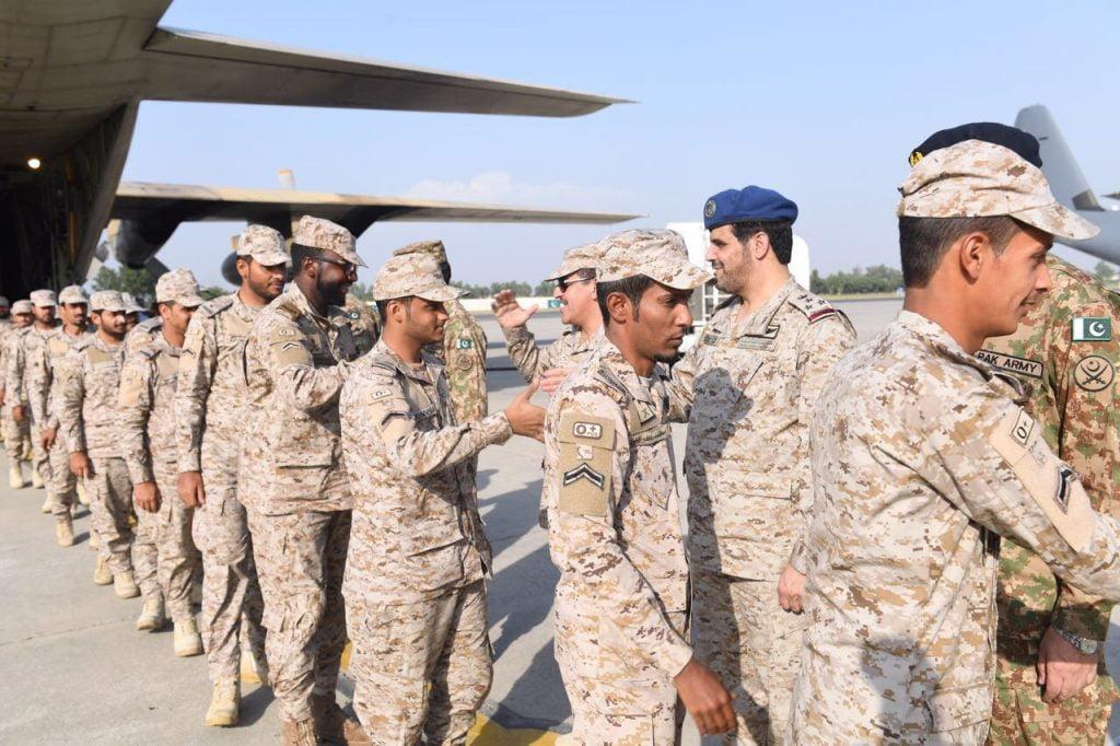 """وصول القوات السعودية المشاركة في تمرين """"الصمصام 6"""" بجهورية باكستان الإسلامية"""