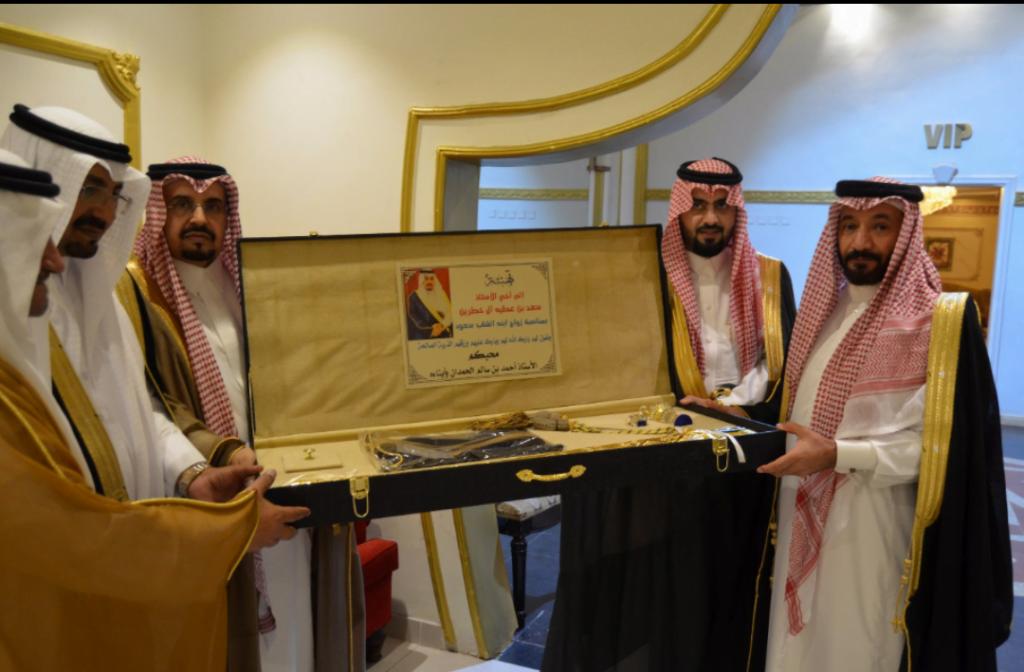 سعد بن خطرين يحتفل بزفاف ابنه