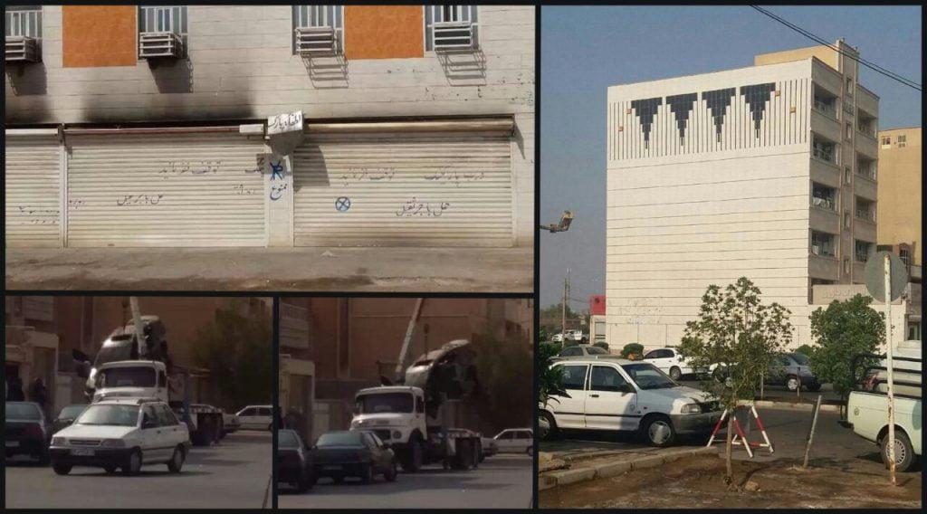 أحوازيون يهاجمون منزل مستوطن في الأحواز ويحرقون سياراته احتجاجا على عنصريته