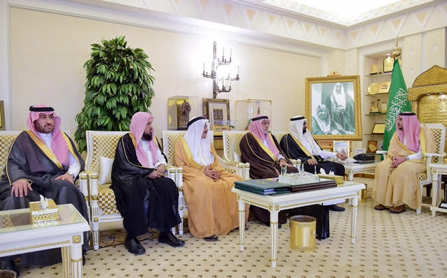 أمير القصيم يستقبل وفد الجمعية الوطنية لحقوق الإنسان بعد إفتتاح مقرها في المنطقة