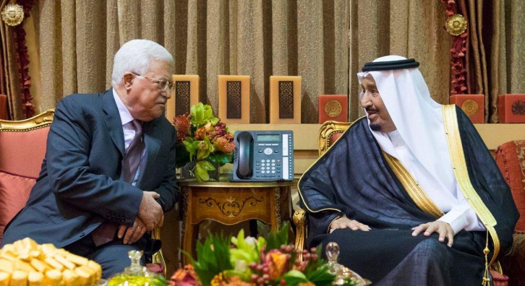 خادم الحرمين الشريفين يستقبل رئيس دولة فلسطين ويقيم مأدبة غداء تكريماً لفخامته