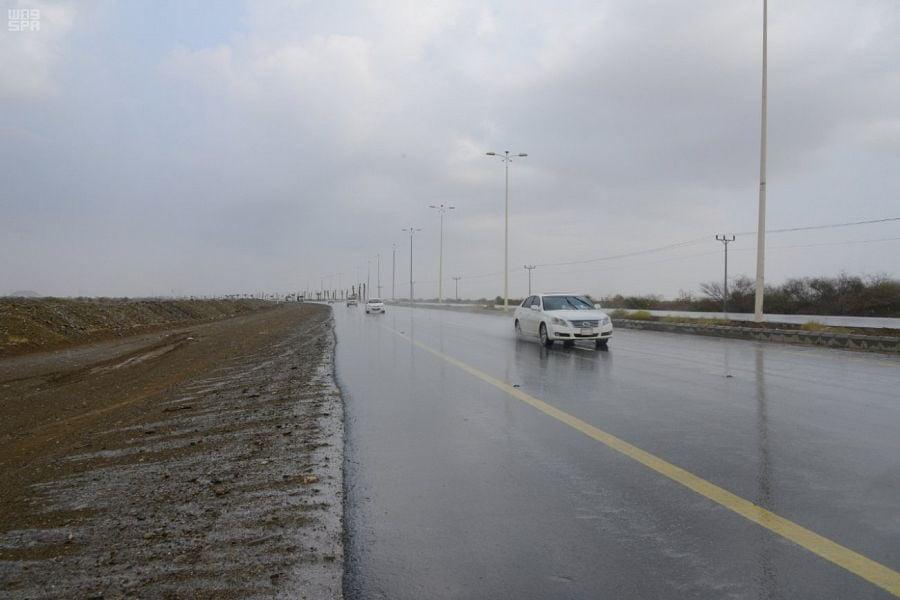 أمطار على منطقة جازان