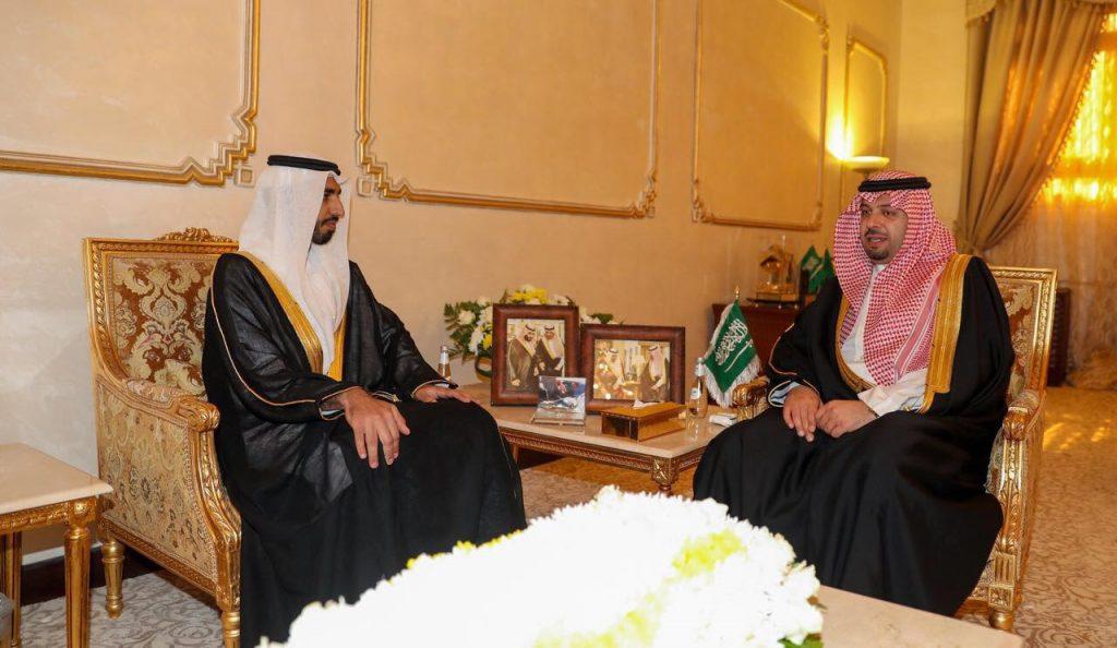 أمير منطقة الحدود الشمالية يستقبل سفير دولة الإمارات العربية المتحدة لدى المملكة