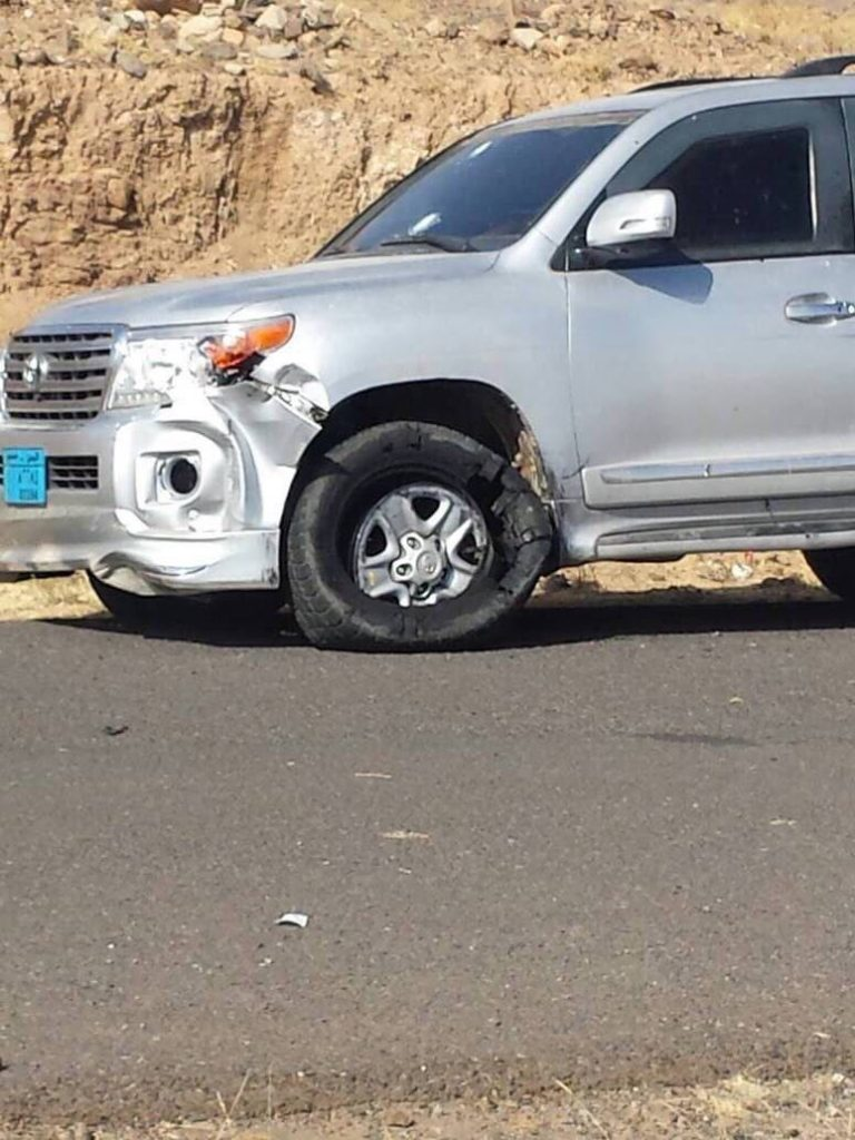 """نشر صور سيارة """"صالح"""" التي كان يسقلها بعد نهاية دراماتيكية باغتيال منظم وعمل استخباراتي مدروس"""