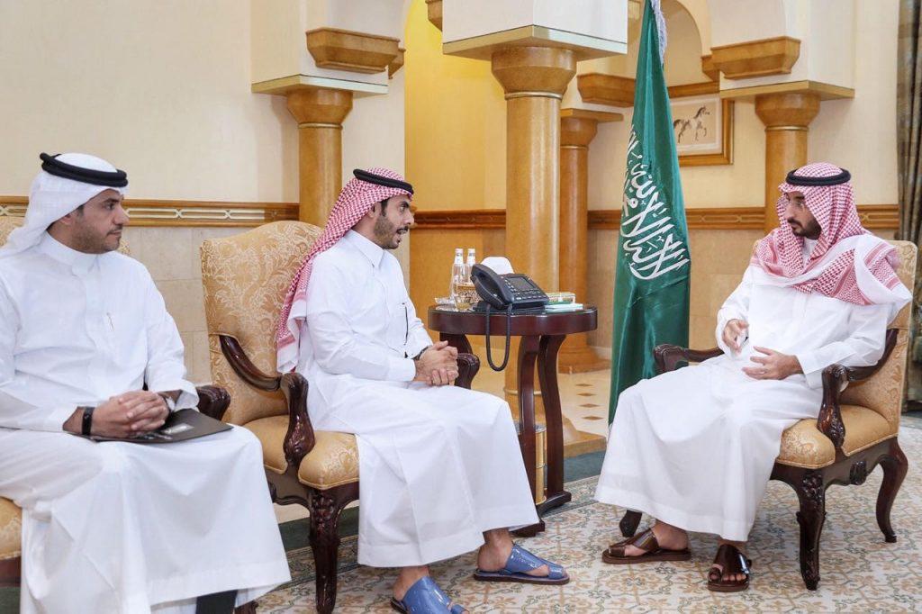 نائب أمير منطقة مكة المكرمة يستقبل نائب الأمين العام للموانئ والإشراف بهيئة المدن الاقتصادية
