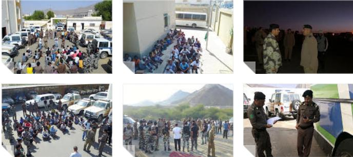 شرطة منطقة عسير تتابع حملة وطن بلا مخالف