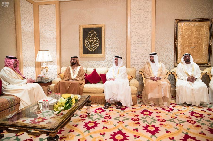 نائب رئيس دولة الإمارات العربية المتحدة يستقبل وزير الداخلية
