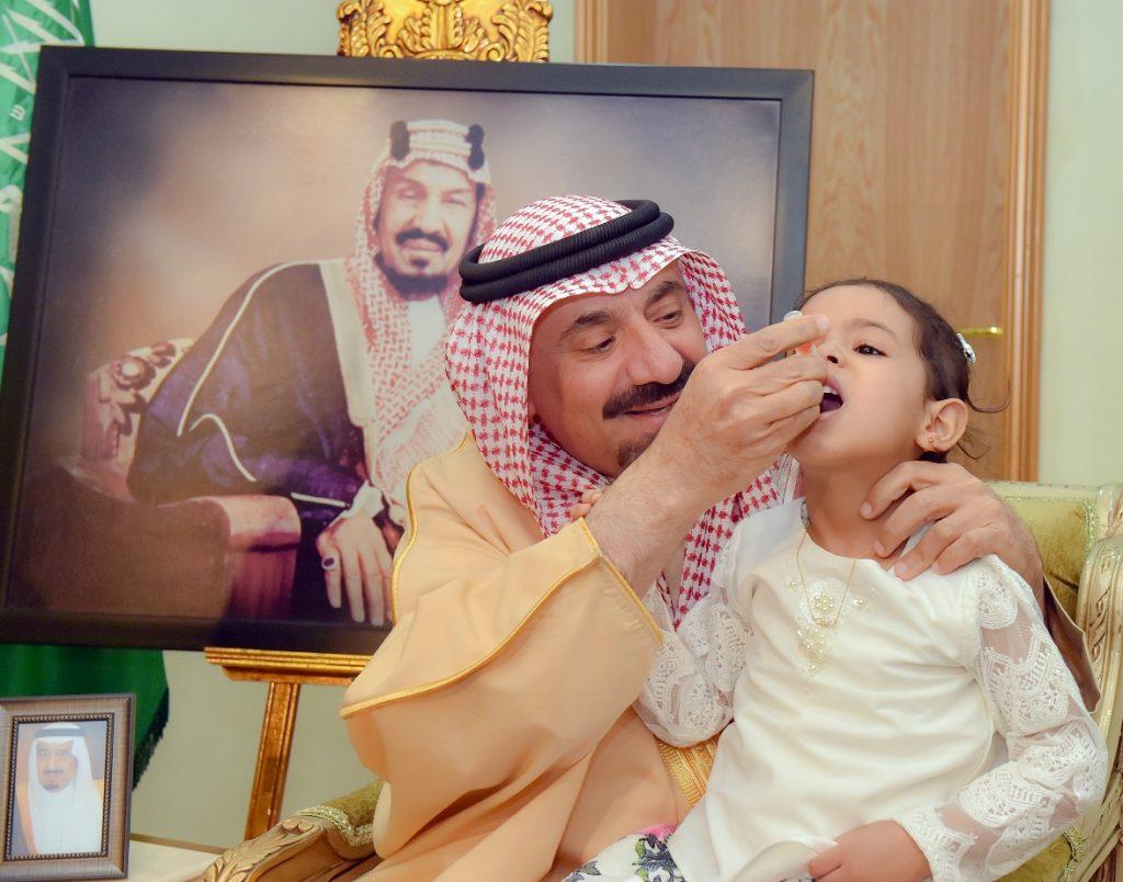 أمير نجران يطلق الحملة الوطنية ضد شلل الأطفال