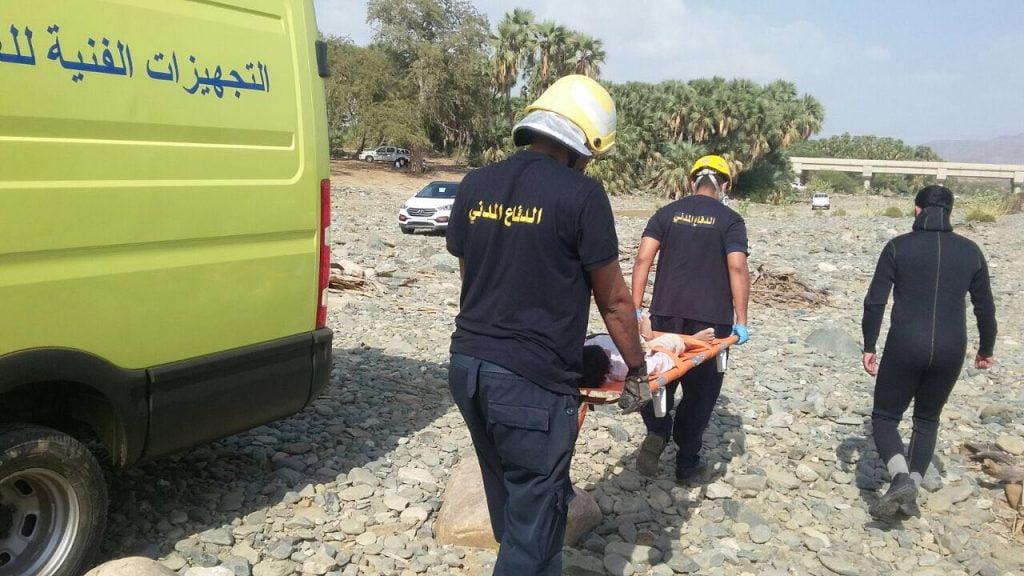 الدفاع المدني بجازان : غرق طفل وفتاة بمياه راكدة بمجرى وادي شهدان بمحافظة بيش