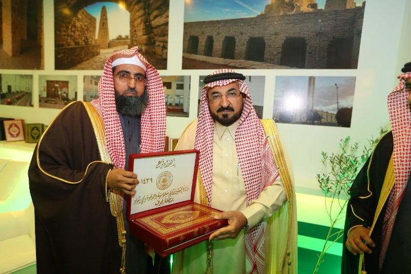 وكيل إمارة الجوف يفتتح جناح فرع وزارة الشؤون الإسلامية والدعوة والإرشاد في مهرجان الزيتون