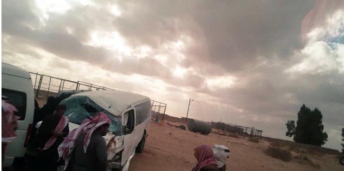 إصابة «5» معلمات في تصادم بطريق طبرجل – سكاكا الدولي