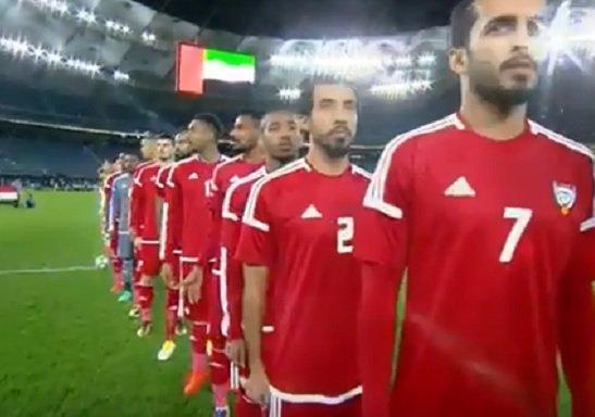 شاهد.. خطأ فادح أثناء عزف النشيد الوطني الإماراتي في نصف نهائي خليجي 23.. واللجنة المنظمة تعتذر