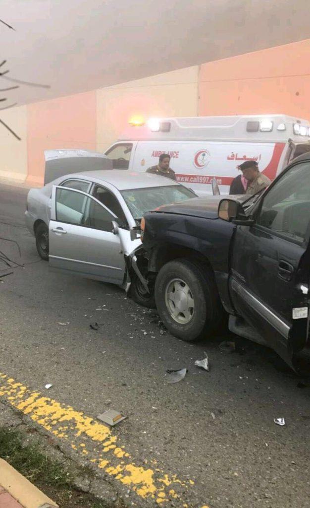 وفاة شخص واصابة سبعة إثر حوادث مرورية بالباحة